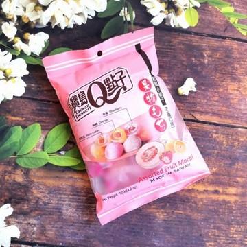 宝岛Q点子 和风小菓子 综合水果味麻糬 120g