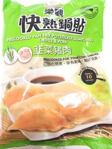 乐观 韭菜猪肉锅贴 500g