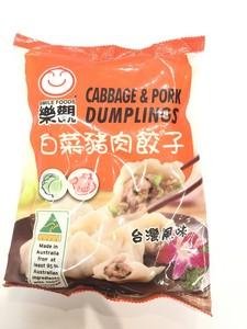 乐观 白菜猪肉饺子 600g