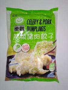 乐观 芹菜猪肉水饺600g