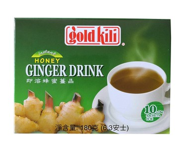 GoldkiLi 即溶蜂蜜姜晶 180g(盒装)